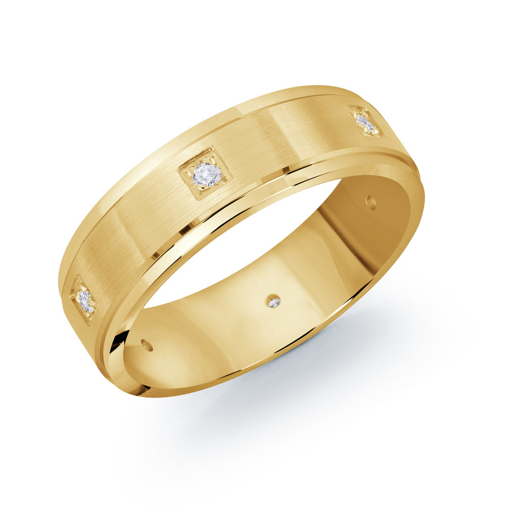 Yellow Gold Men's Ring Size 7mm (JMD-1094-7Y9)